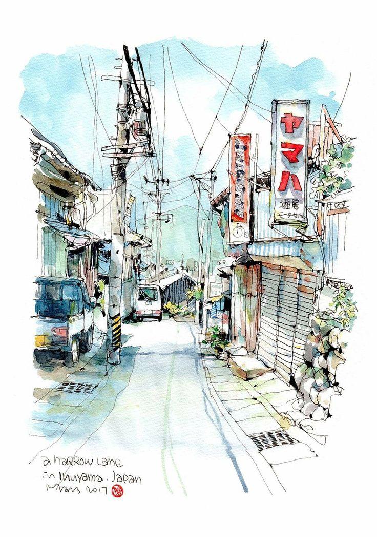 Drawn scenic architecture city Best Pinterest 7