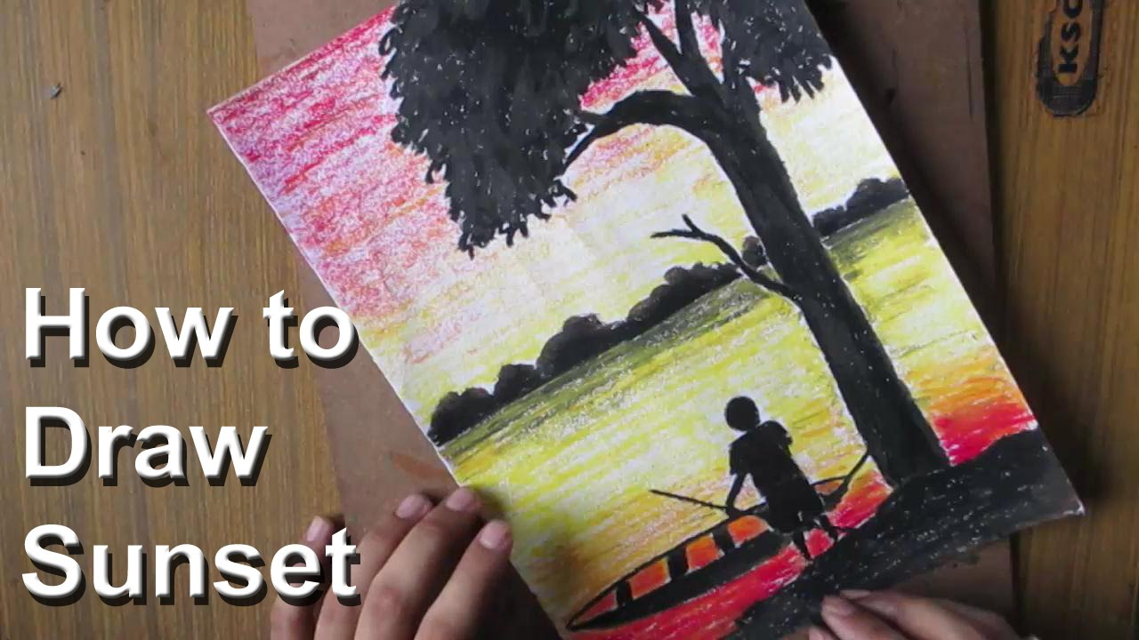 Drawn scenic art Draw Pastel YouTube  How
