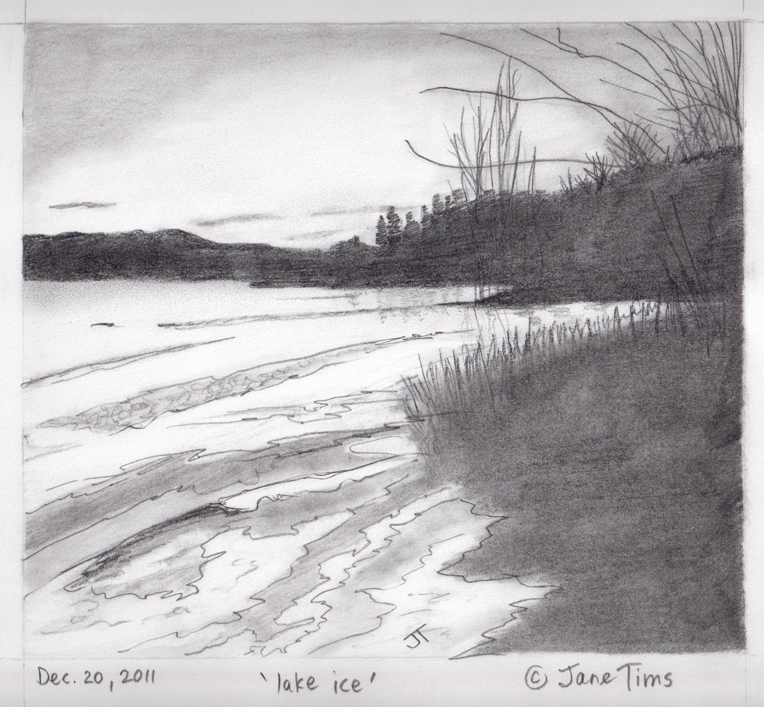 Drawn scenic basic Of gallery landscape pencil of
