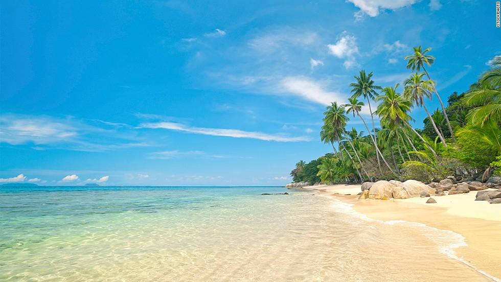 Drawn scenic beach  best world around CNN