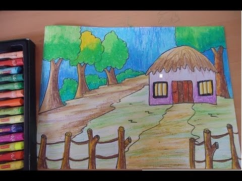 Drawn scenery for kid scenery YouTube beautiful  scenery kids