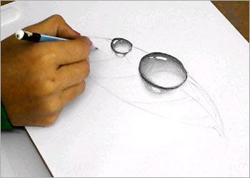 Drawn 3d art beginner Drawing: to Dew Leaf Draw
