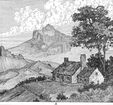 Drawn scenic black pen For in Draw Pen Drawing