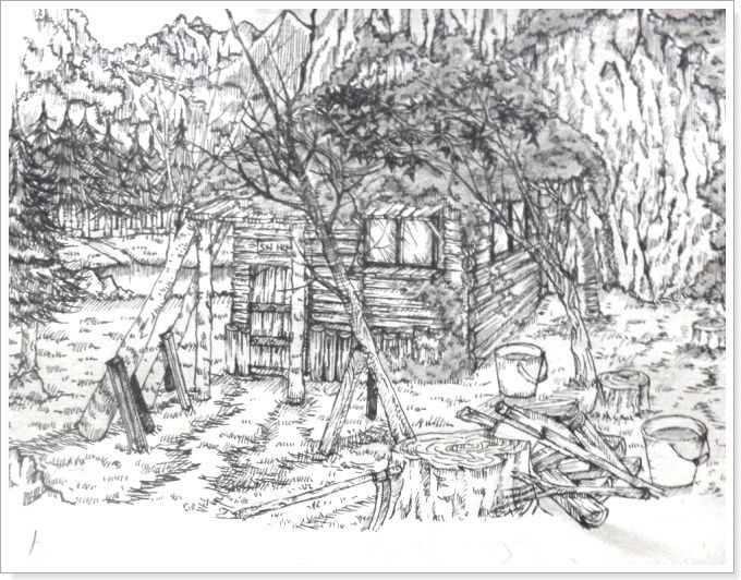 Drawn scenic black pen Drawing (scenery) images best drawings