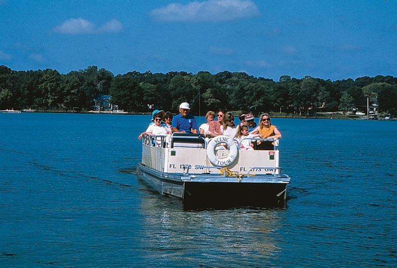 Drawn scenic boat Avenue Park Scenic Park &