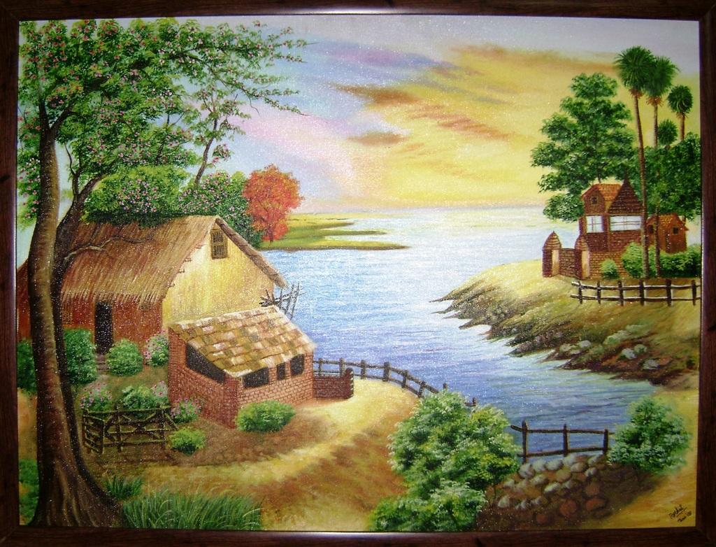 Drawn scenery canvas Indian for painting Pinterest