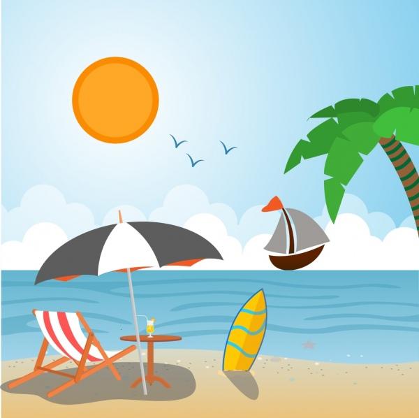 Scenery clipart summer scenery #6