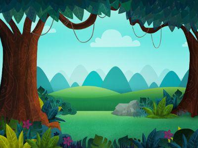 Drawn scenery cartoon Cartoon scenery and Cartoon Design