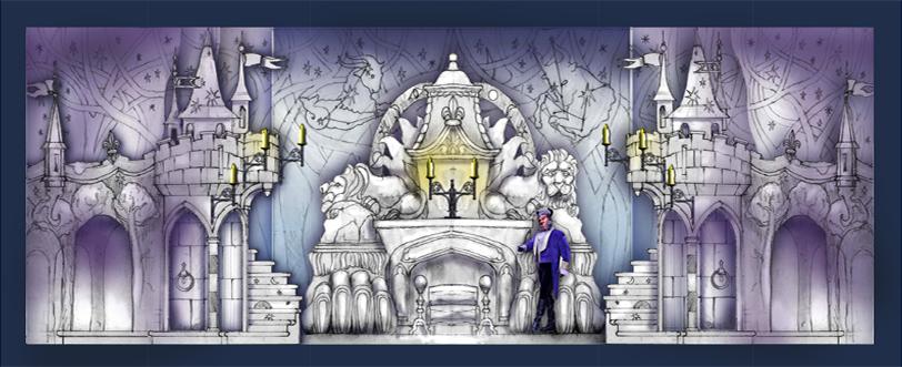Drawn scenic castle Designer Scenic Beauty Portfolio set
