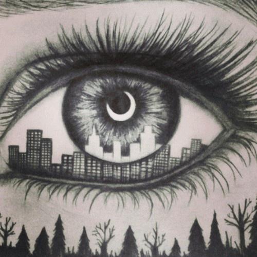 Drawn scenic city Art a scenic the of