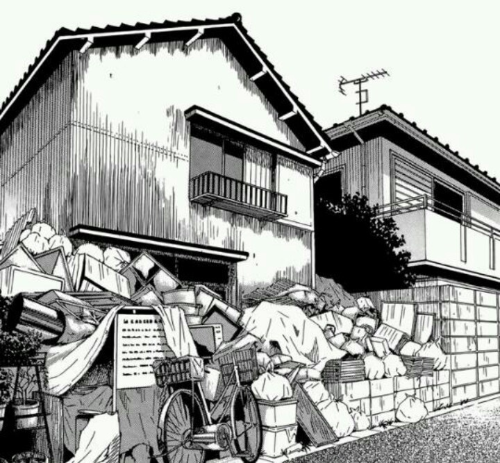 Drawn scenic cityscape On images Landscape Manga 14