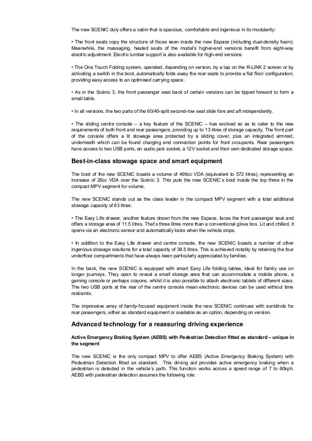 Drawn scenic class 4 Renault 4 Scenic Press Release
