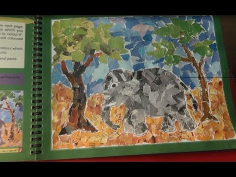 Drawn scenic collage work Page YouTube Paper Collage Page
