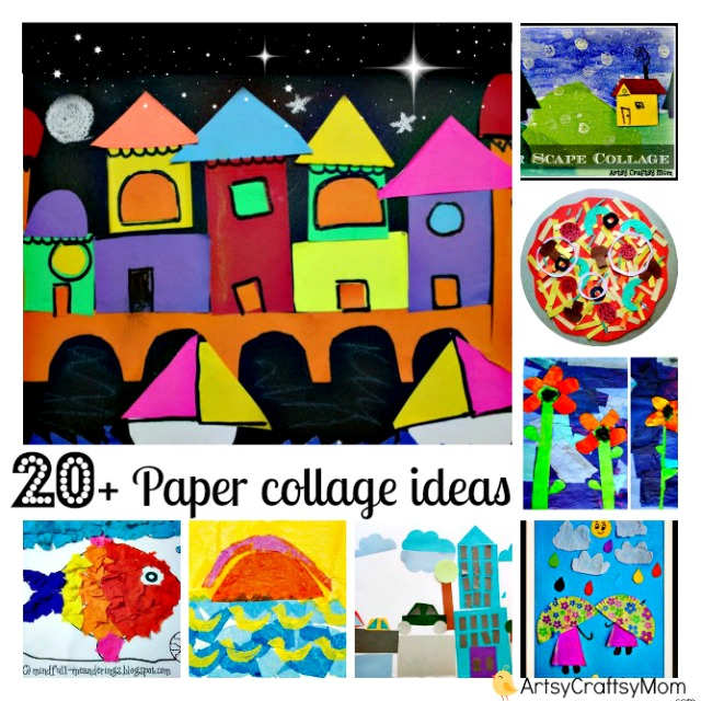 Drawn scenic collage work Collage for 20+ Mom Craftsy