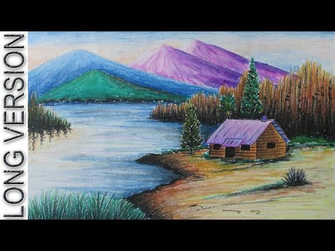 Drawn scenic color Resim Drawings Pinterest YouTube