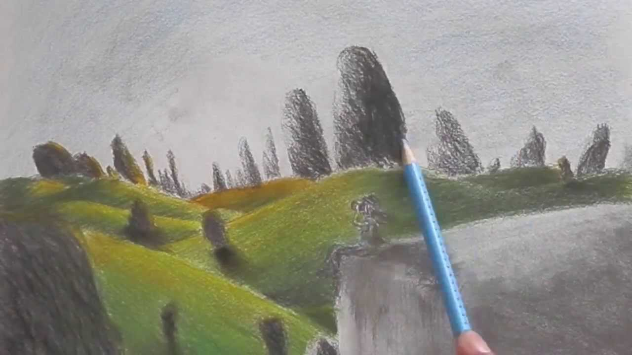 Drawn scenic colored pencil YouTube It's always  Colored