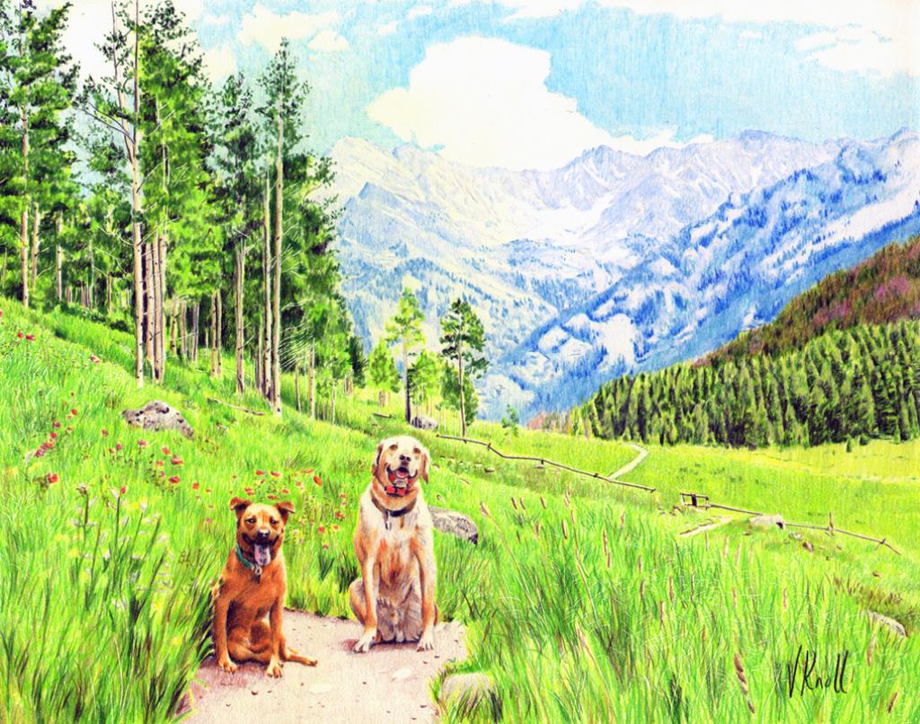 Drawn scenic colored pencil Vicki Pets Of And Scenery