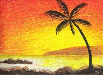 Drawn scenery crayon Pastel on ideas pastel 25+