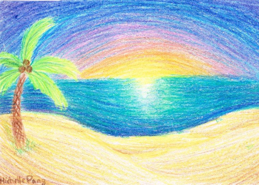 Drawn scenic crayon Drawn by Crayon waveoftheocean Drawn