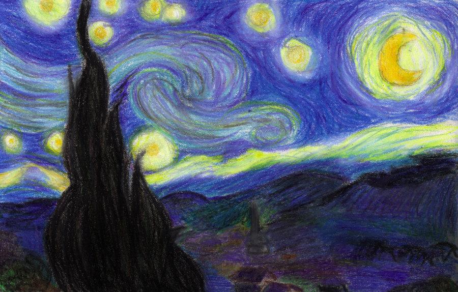 Drawn scenic crayon Crayon by Gogh Shaleco Crayon