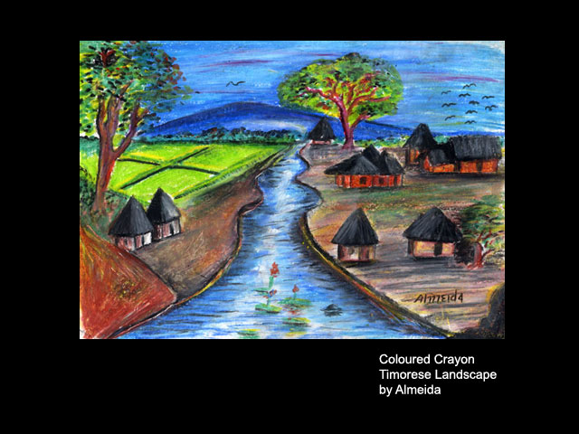 Drawn scenic crayon Recent Scenery Drawing For Children