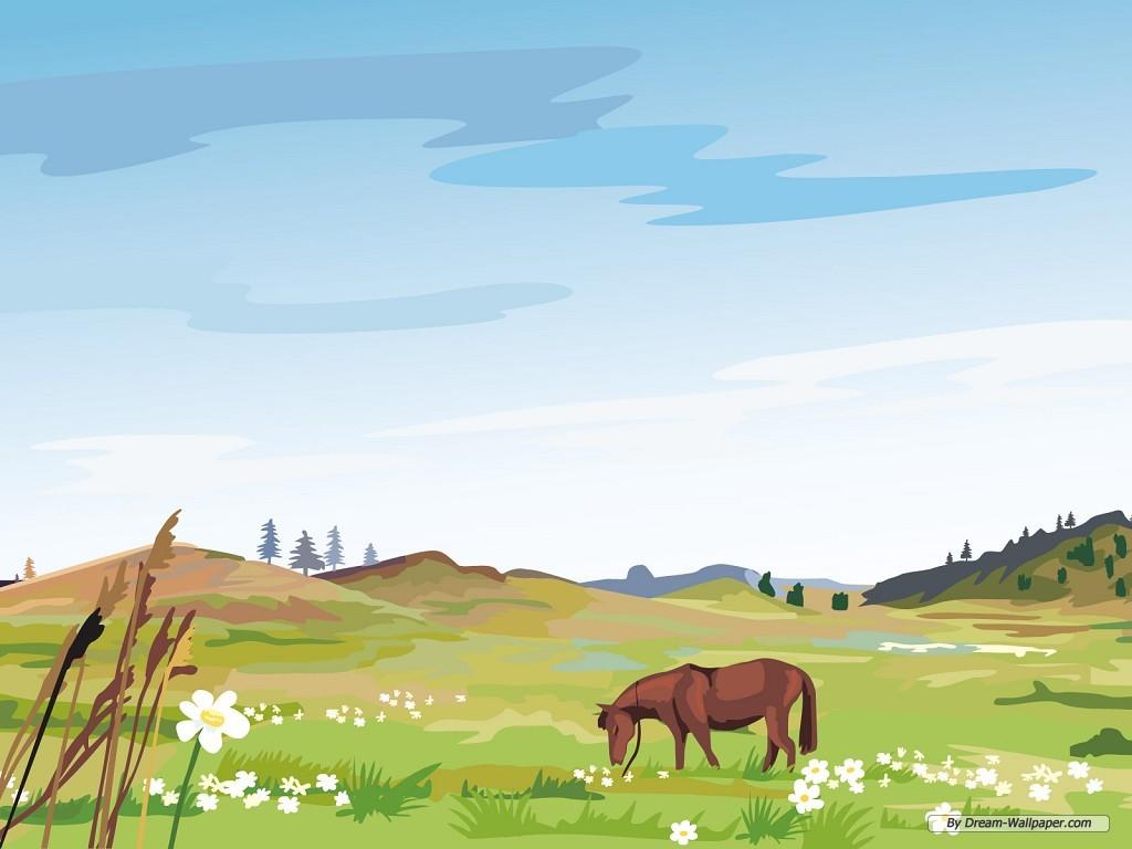 Drawn scenic desktop background Wallpapers Desktop wallpaper scenery Wallpaper