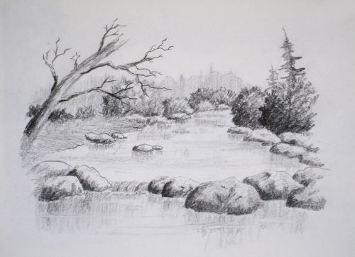 Drawn scenic drawing Drawing Drawing Pinterest Landscape Online