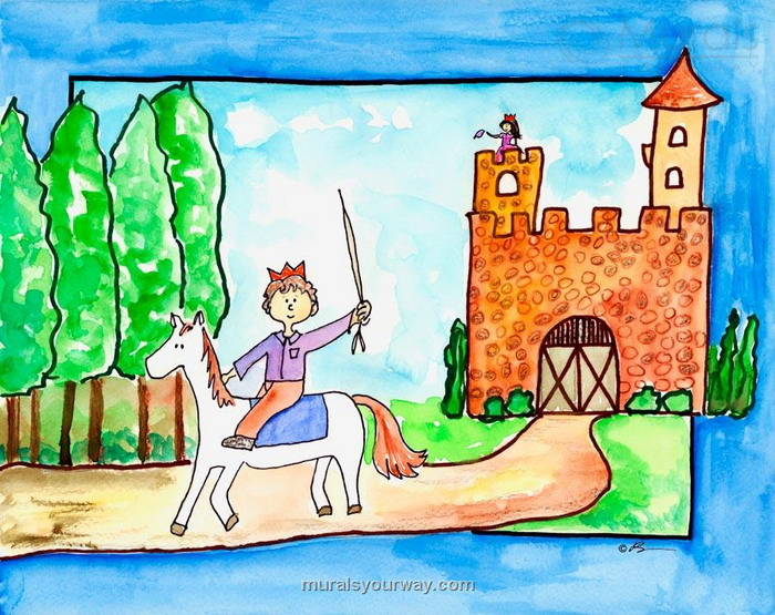 Drawn scenic for kid scenery Bowman the Kids Wall Castle