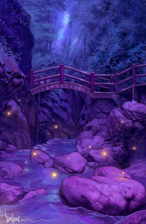 Drawn scenic forest Drawings Drawings Outstanding Scenery Scenery