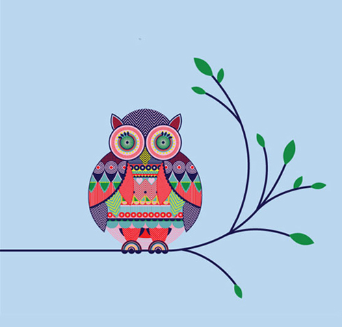 Drawn scenery geometrical shape Really are the make owl