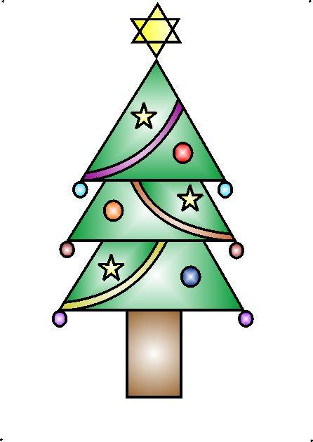 Drawn scenery geometrical shape Decorative a Christmas your tree
