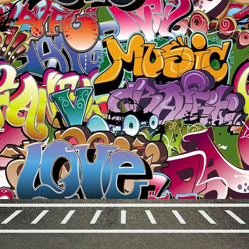 Drawn scenic graffiti 8'x8' Scenic Background Wall Backdrop