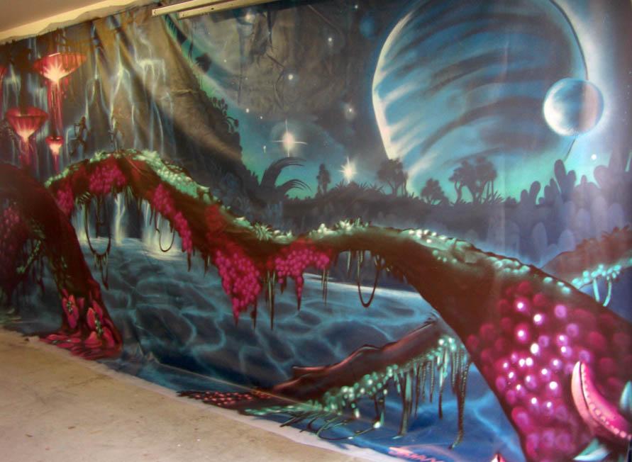 Drawn scenic graffiti Artist 3 and NZ auckland