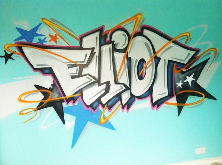 Drawn scenic graffiti / Pinterest 25+ # wall