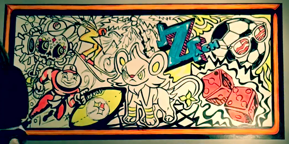 Drawn scenic graffiti Vivid Graffiti from Creating Spectrum