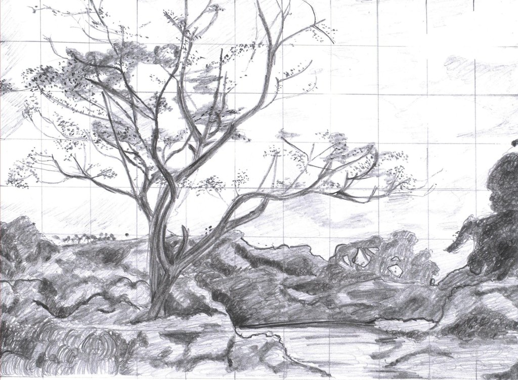 Drawn scenic hand drawn ~ Withered Version on Hand