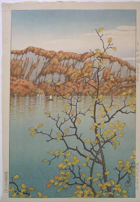 Drawn scenic japanese Lake Towada Hasui The Senjo