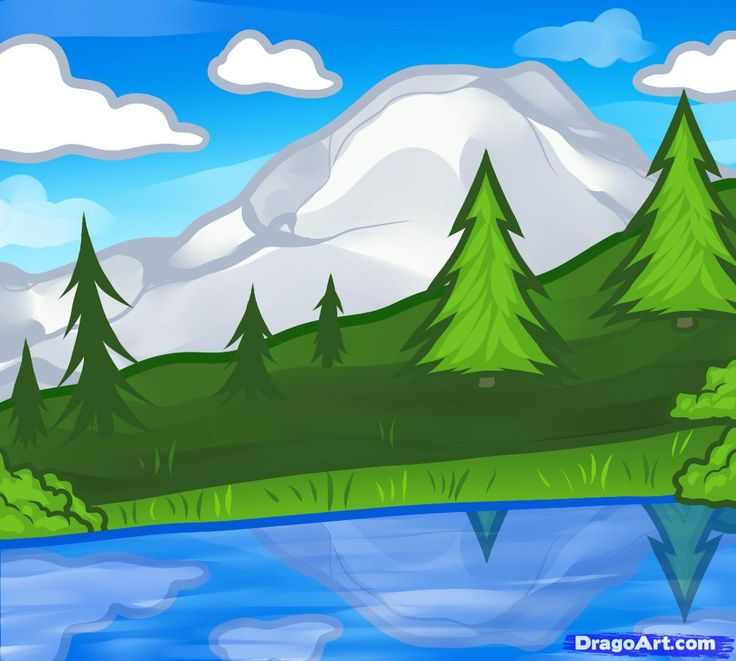 Drawn scenic landscape 9 a 103 (Preferences Art: