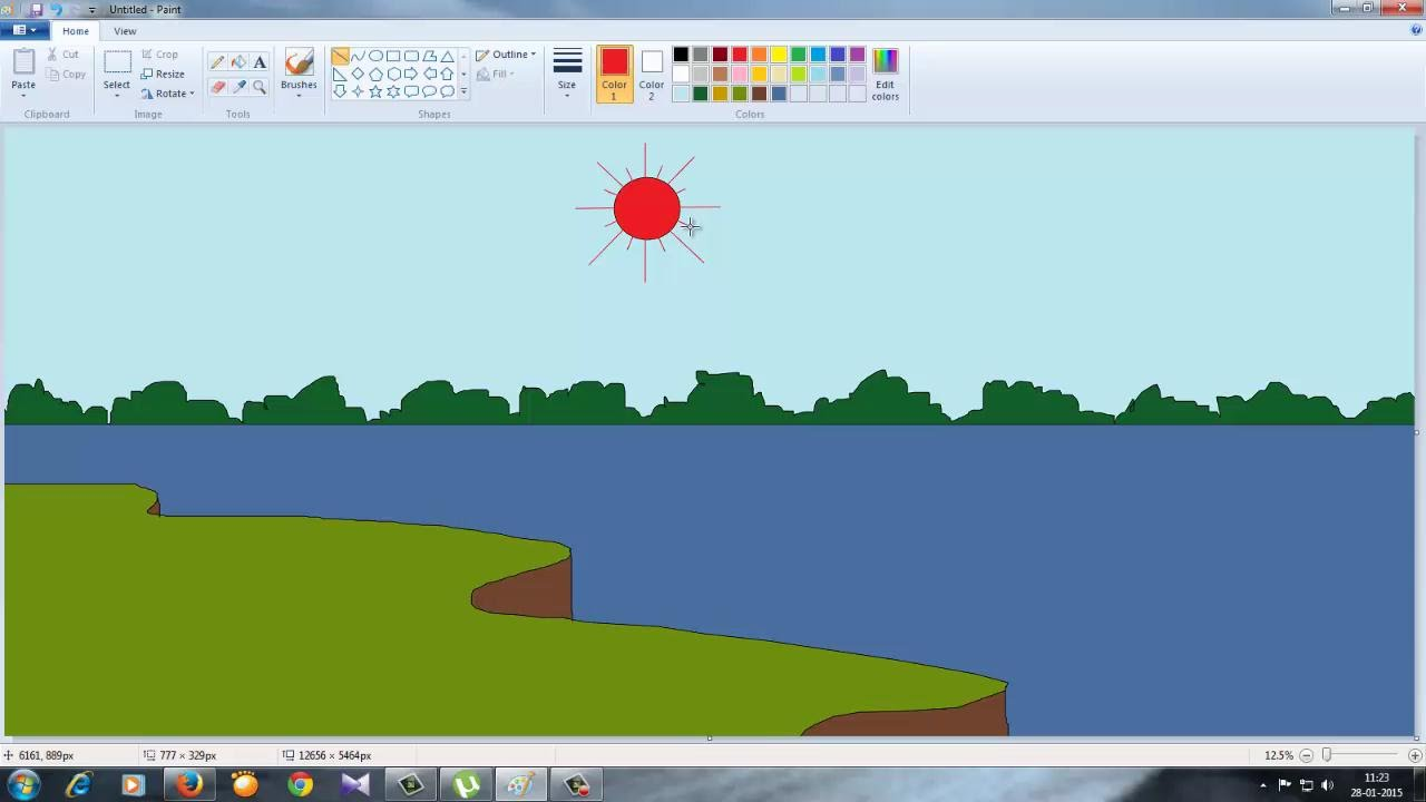 Drawn scenery ms paint Draw Ms Paint in How