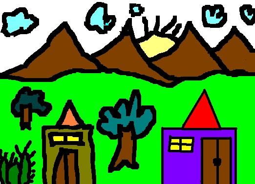 Drawn scenery ms paint में Paint drawing MS पढाया