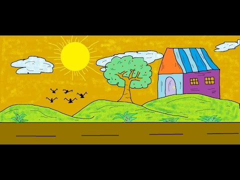 Drawn scenic ms paint Youtube Paint Drawings Easy Easy