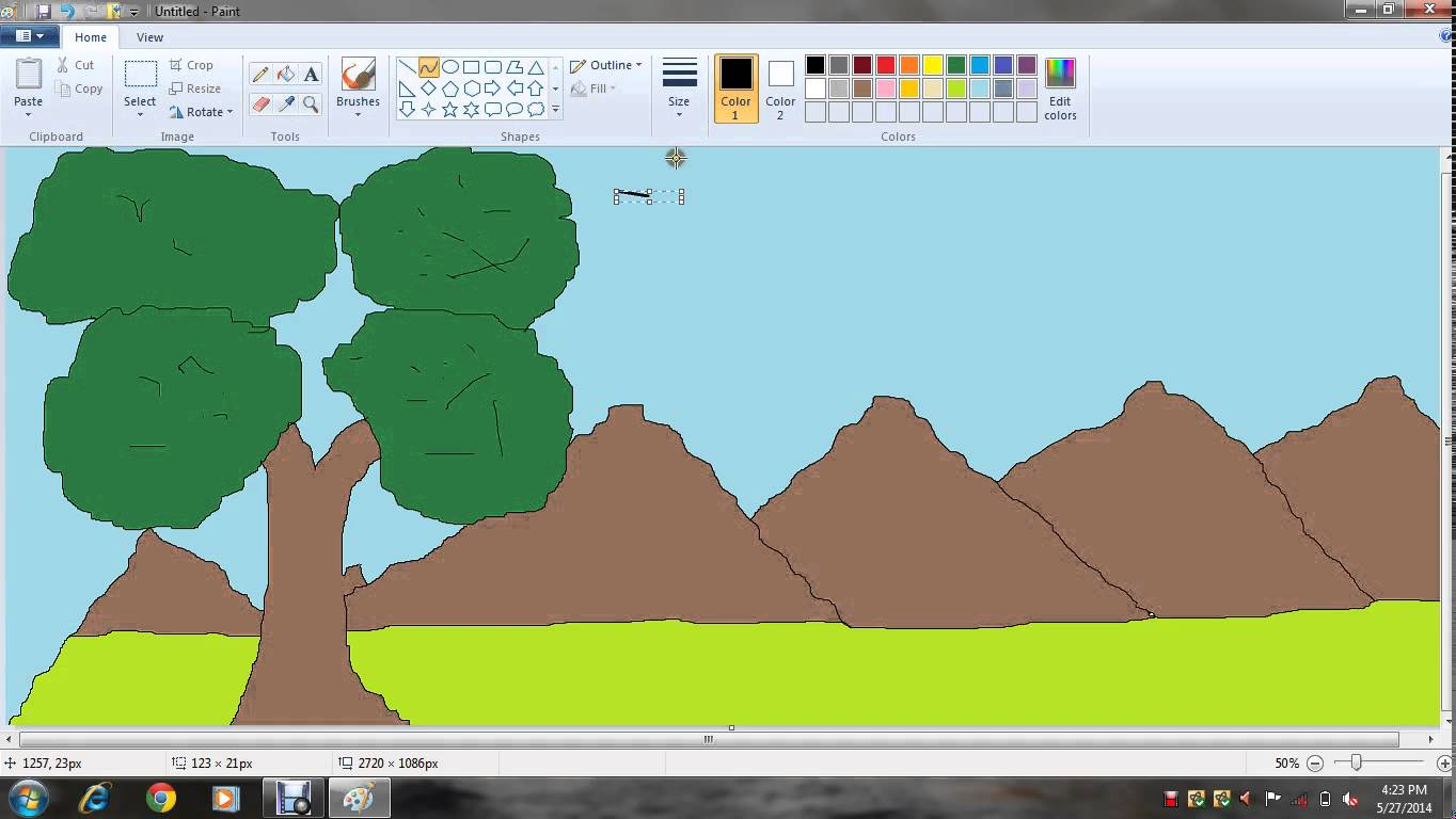 Drawn scenic ms paint IN TO KIDS  HOW