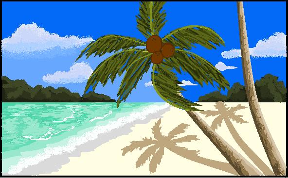 Drawn scenery ms paint Beach Palm Rose7p Paint MS