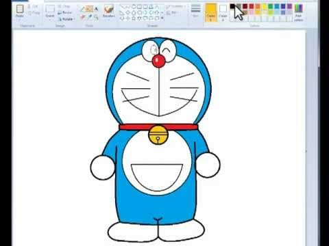 Drawn scenic ms paint FOR + INDIANS + Doraemon