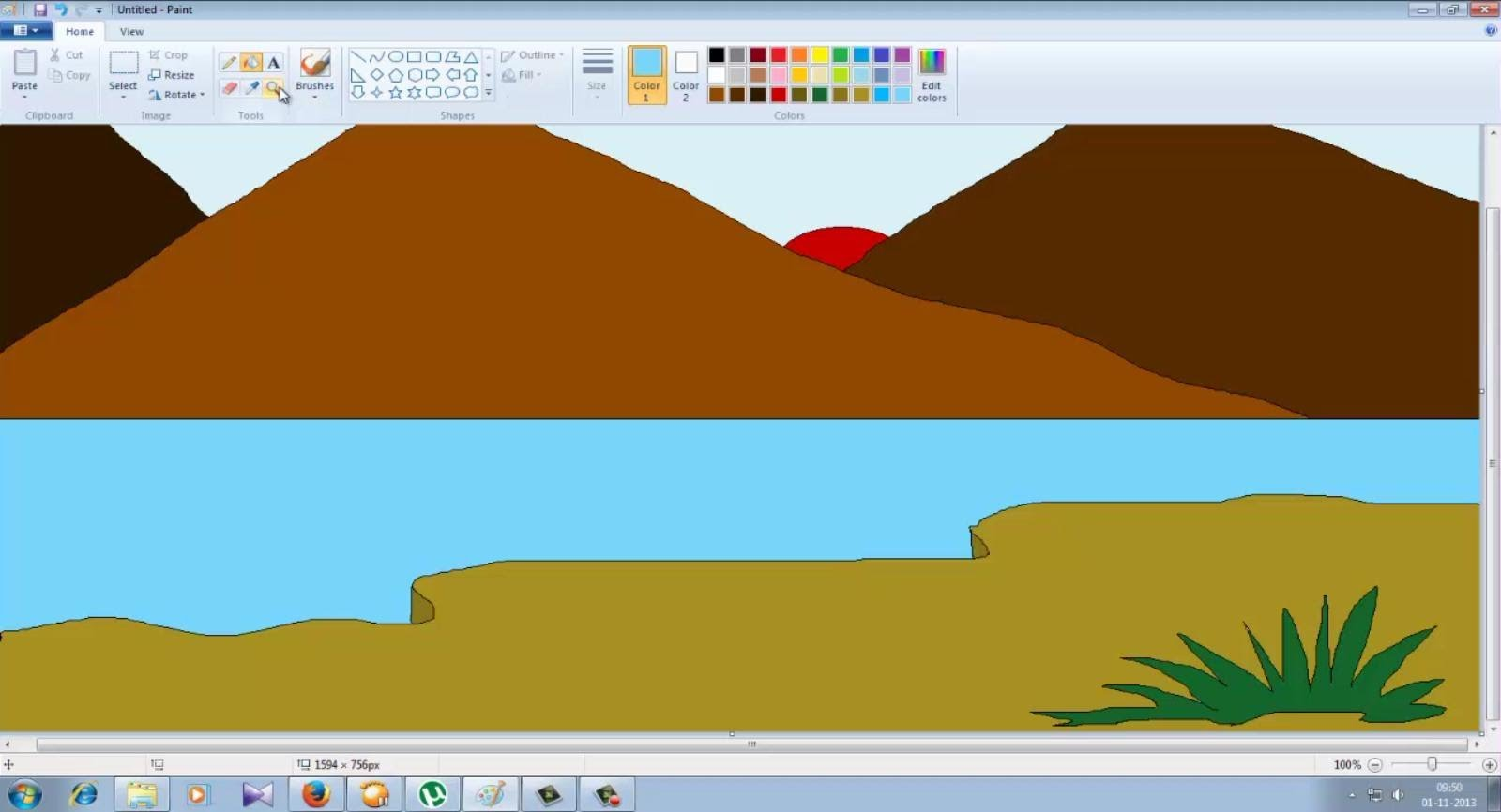 Drawn scenic ms paint Painting PAINT:  MS Speed