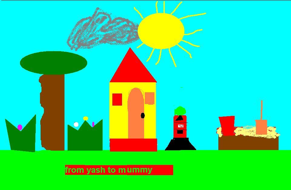 Drawn scenery ms paint Scenery in mummy yash