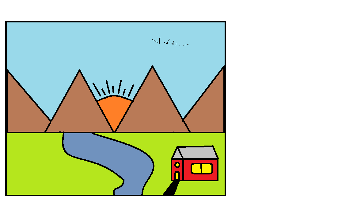 Drawn scenery ms paint Virtually me out Without was