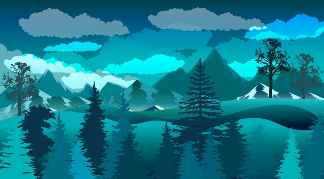 Drawn scenic nature Scenery nature natural Free download