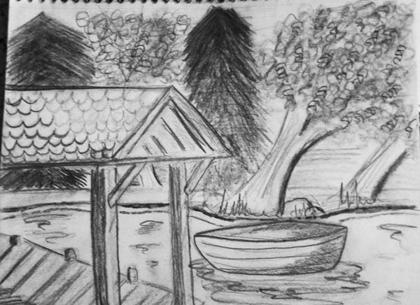 Drawn scenic nature Of Nature Drawings of Nature