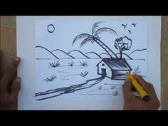 Drawn scenic sunrise Drawing Tutorial Scenery Pinterest Kids
